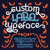Custom retro typeface