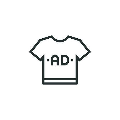 Custom Shirt Line Icon
