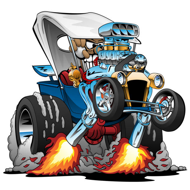 Hot Rod Illustrations, Royalty-Free Vector Graphics & Clip