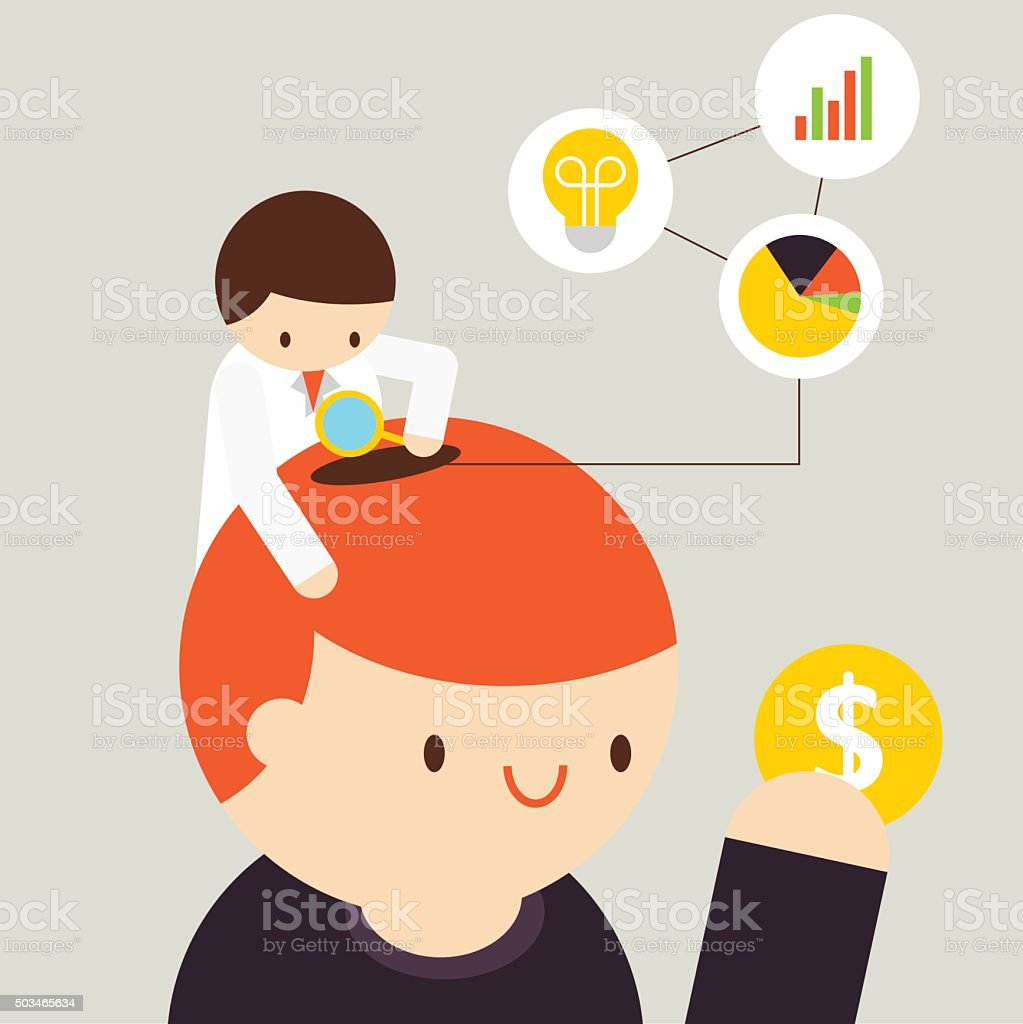 Customer Analysis vector art illustration