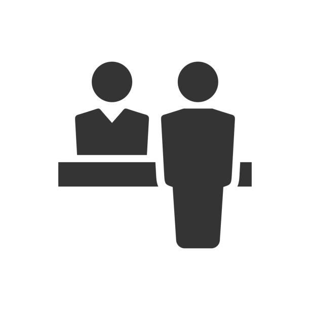 顧客支援アイコン - 受付係点のイラスト素材/クリップアート素材/マンガ素材/アイコン素材