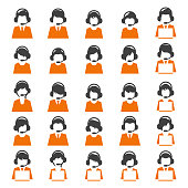 Customer care icon set