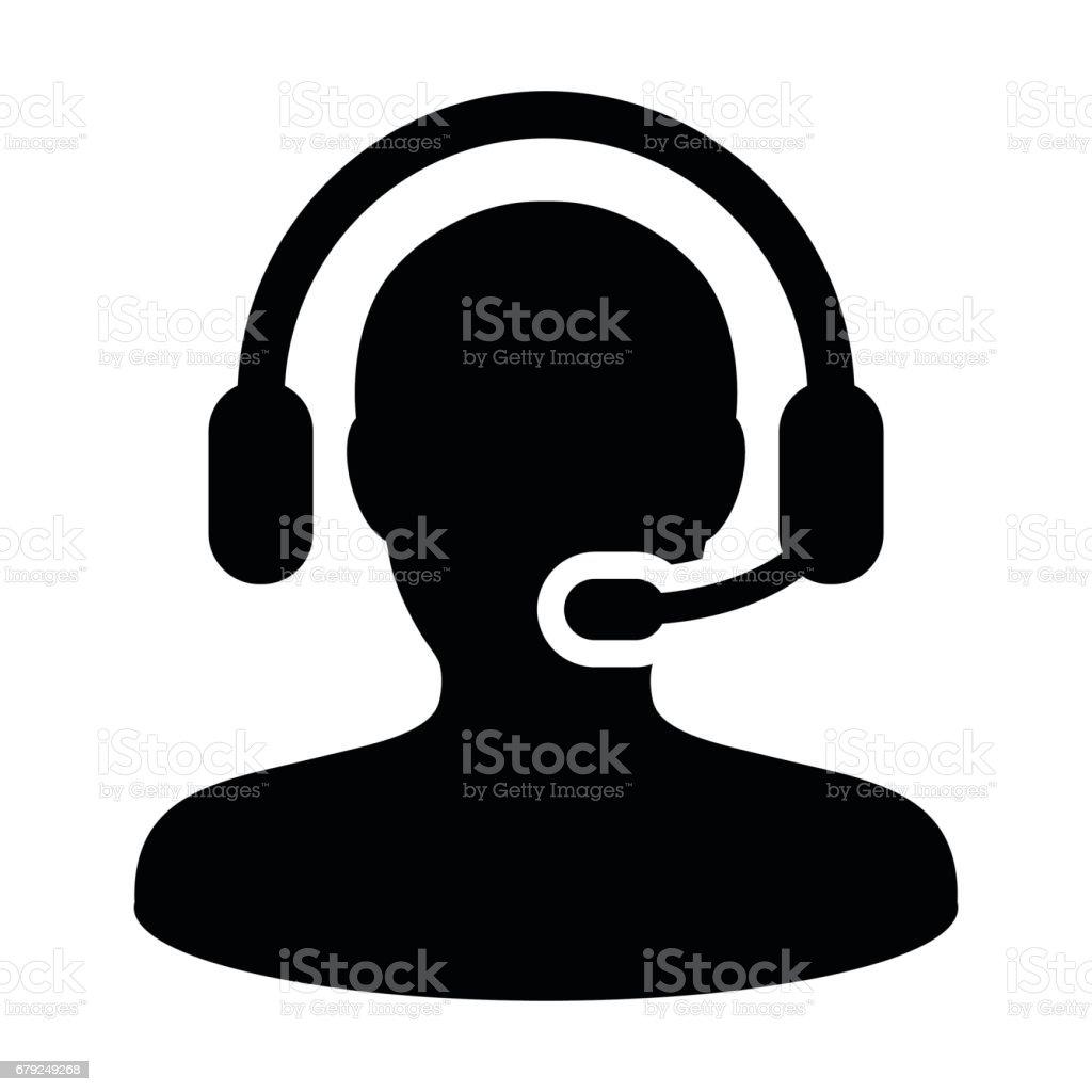 Service à la clientèle des soins et soutien Icon - vecteur personne Avatar avec casque d'écoute service à la clientèle des soins et soutien icon vecteur personne avatar avec casque découte – cliparts vectoriels et plus d'images de adulte libre de droits