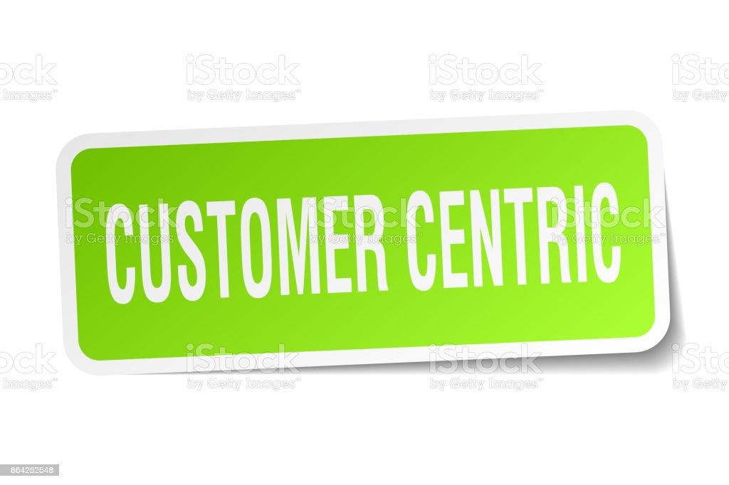 customer centric square sticker on white royalty-free customer centric square sticker on white stock vector art & more images of badge