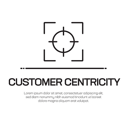 Customer Centricity Vector Line Icon - Simple Thin Line Icon, Premium Quality Design Element