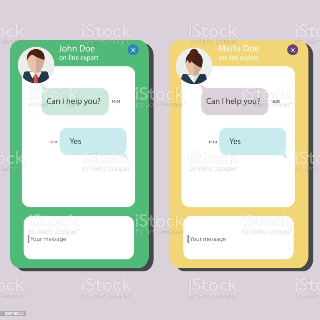 Customer client support service. Consult web live chat design template vector art illustration