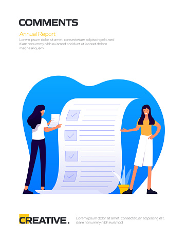 Customer Comments Concept Flat Design for Posters, Covers and Banners. Modern Flat Design Vector Illustration.