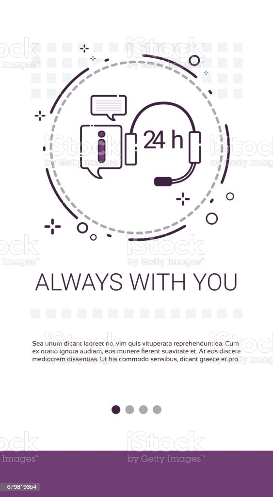 Customer Consulting Support Service Banner vector art illustration