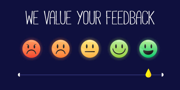 ilustrações, clipart, desenhos animados e ícones de gráfico vetorial de avaliação de avaliação de satisfação e satisfação do cliente - feedback