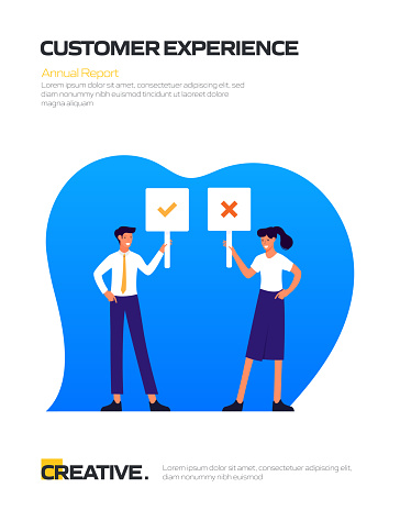 Customer Experience Concept Flat Design for Posters, Covers and Banners. Modern Flat Design Vector Illustration.