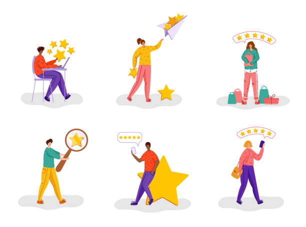 kundenfeedback-konzept - vector - feedback stock-grafiken, -clipart, -cartoons und -symbole
