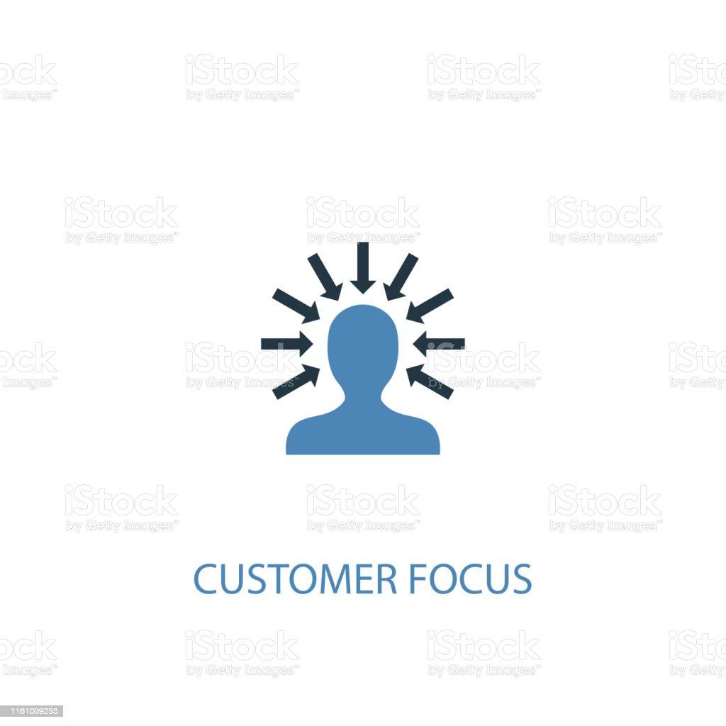 customer focus concept 2 colored icon. Simple blue element...