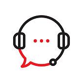 istock Customer helpline support icon 1247852914