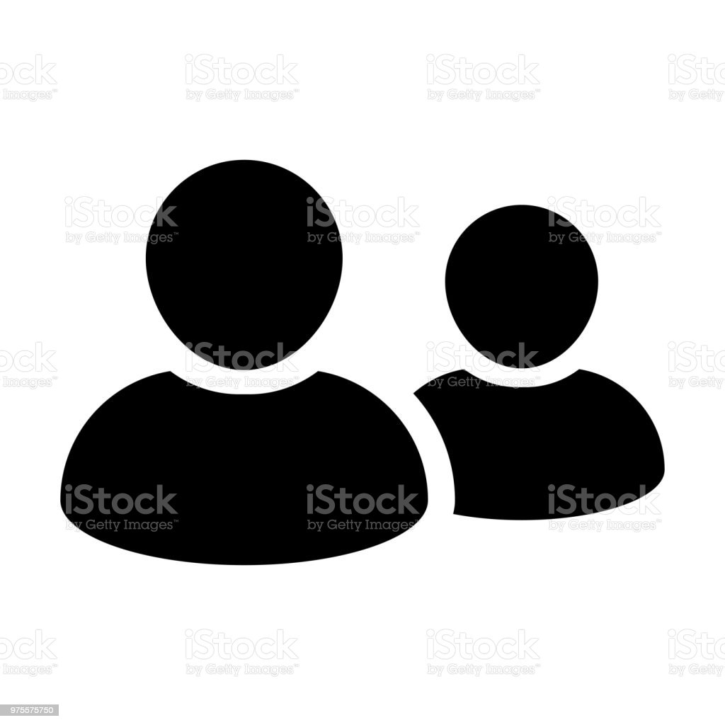 Customer Icon Vector Male Group Of Persons Symbol Avatar For