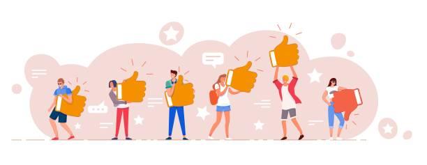 ilustrações, clipart, desenhos animados e ícones de classificação de avaliação on-line do cliente e conjunto de feedback - feedback
