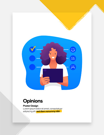 Customer Opinions Concept Flat Design for Posters, Covers and Banners. Modern Flat Design Vector Illustration.