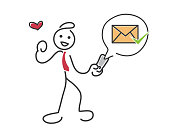 Customer Purchase Transaction Notification Details By Email E-commerce Stickman Illustration Concept