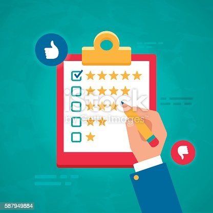 istock Customer Ratings and Survey Reviews 587949884