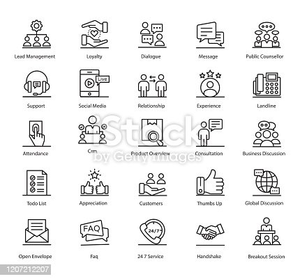 Here is customer relationship communication line vectors pack for your ease. All the vectors are in editable quality, once you will hold this set it will be beneficial for you. Enjoy!