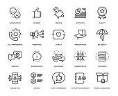 Customer Relationship Management Icon Set - Thin Line Series