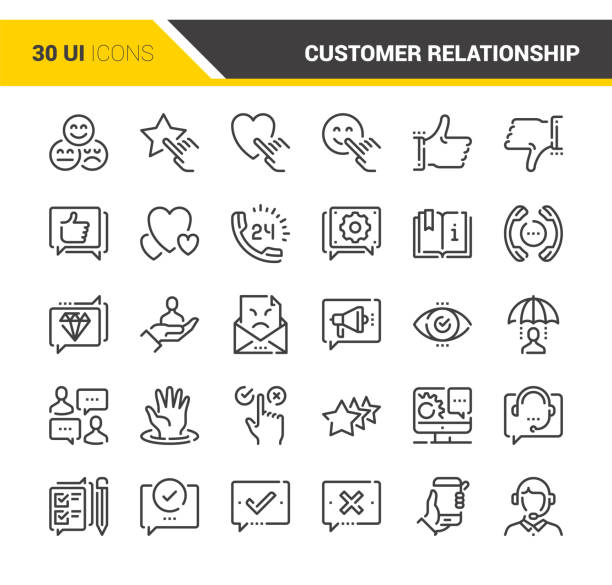 Customer Relationship Management – Vektorgrafik