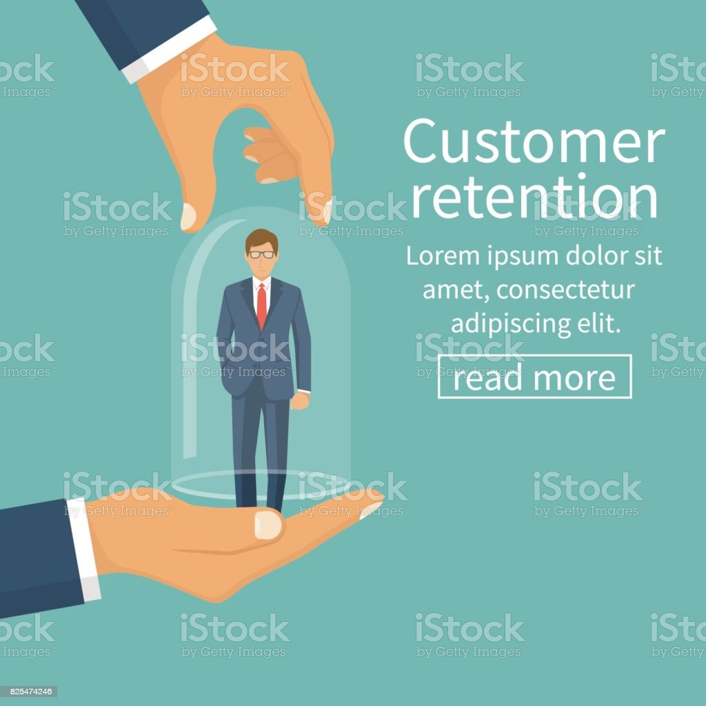 Customer retention concept. vector art illustration