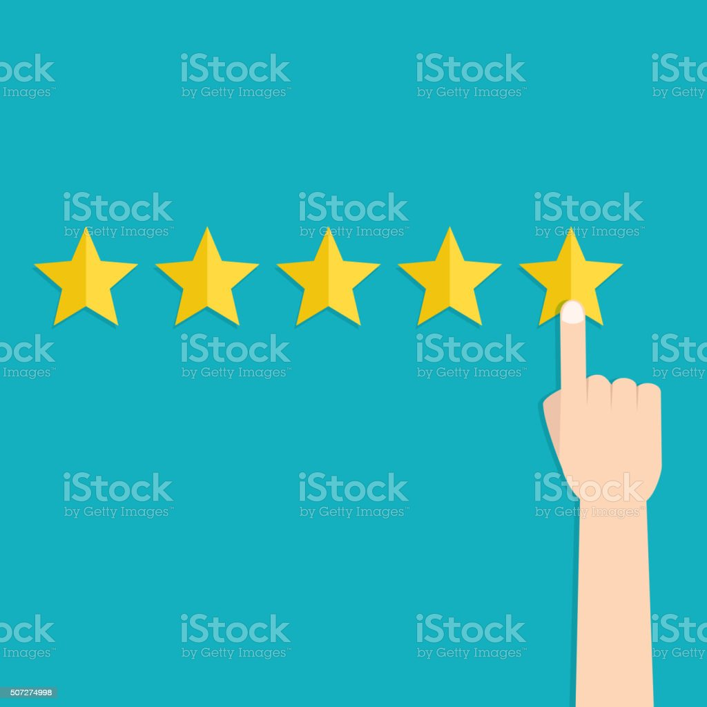 Customer review concepts vector art illustration