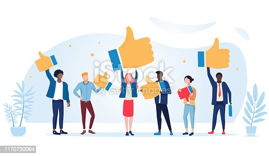 istock Customer review rating. Different People give review rating and feedback. Customer choice. Know your client concept. Rank rating stars feedback. Business satisfaction support 1170730064