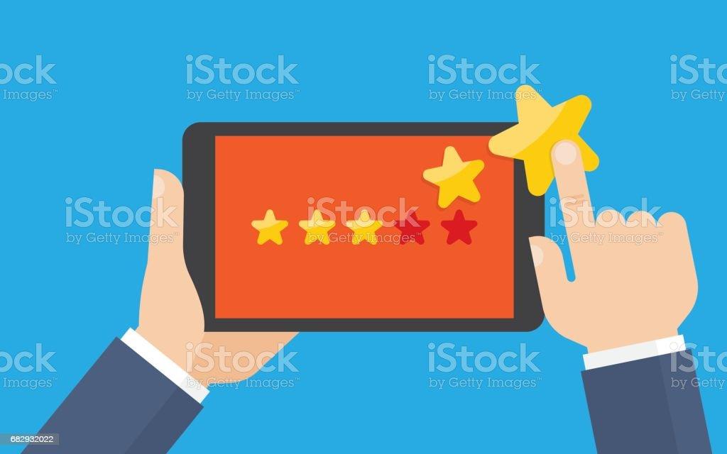 Customer reviews, rating, classification concept. vector art illustration