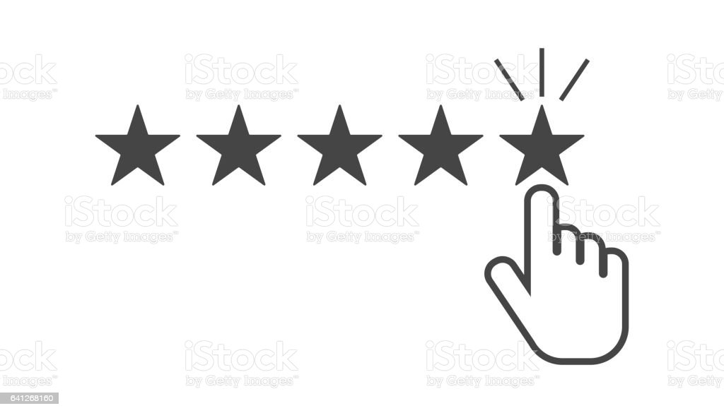 Customer reviews, rating, user feedback concept vector icon. vector art illustration