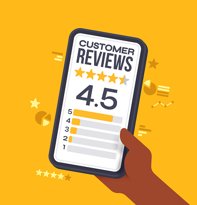 Customer Reviews Ratings on Mobile Device