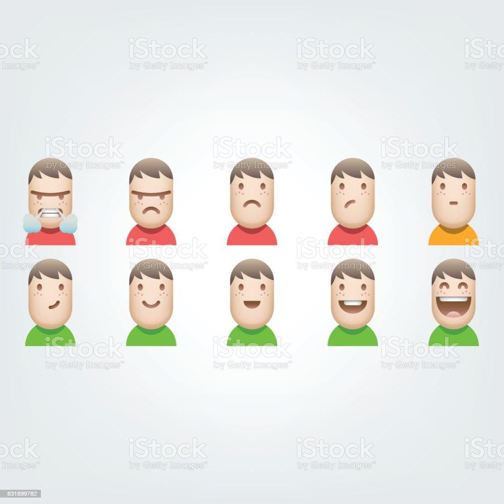 Customer satisfaction avatars icon set vector art illustration