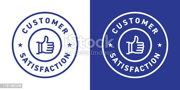 Customer Satisfaction Badge Design