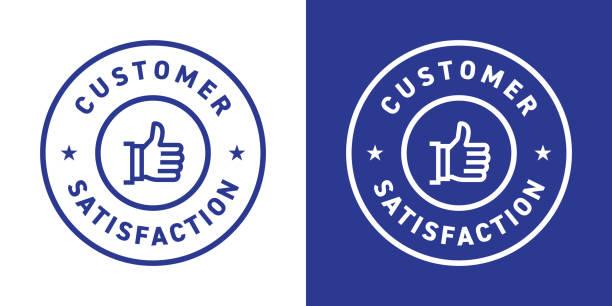 kundenzufriedenheit abzeichen design - reliability stock-grafiken, -clipart, -cartoons und -symbole