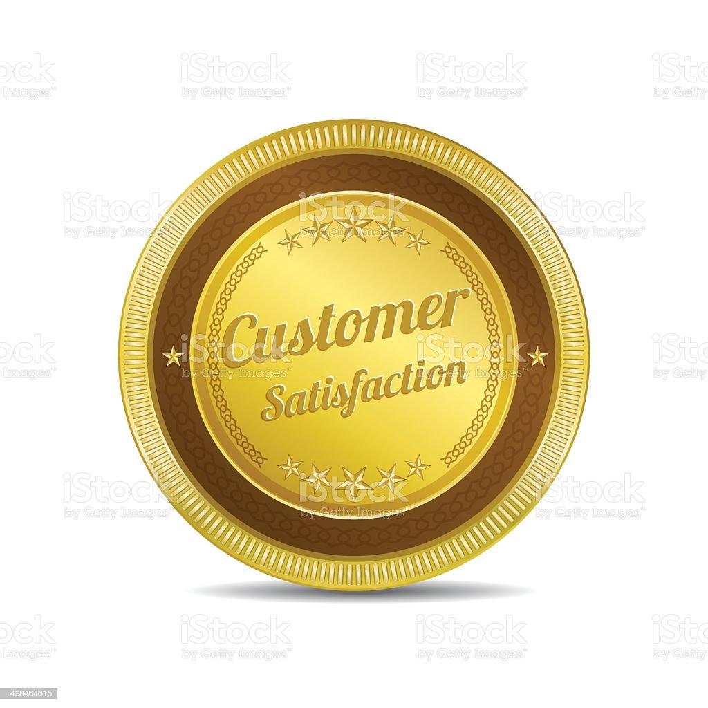 Customer Satisfaction Gold Vector Icon royalty-free stock vector art