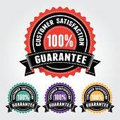Customer Satisfaction Guarantee Badge and Sign