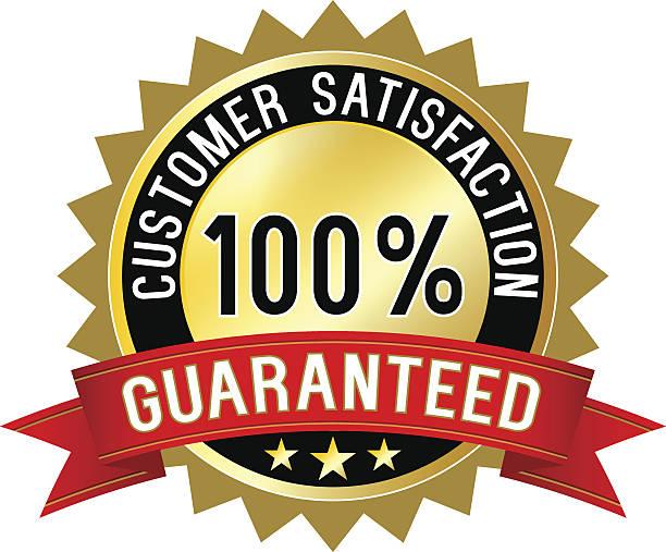 illustrations, cliparts, dessins animés et icônes de étiquette de garantie de satisfaction client - relation client
