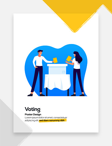 Customer Satisfaction, Voting Concept Flat Design for Posters, Covers and Banners. Modern Flat Design Vector Illustration.