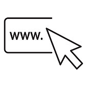 istock Customer service and Contact information searching on internet thin line Icon - editable stroke 1299683764