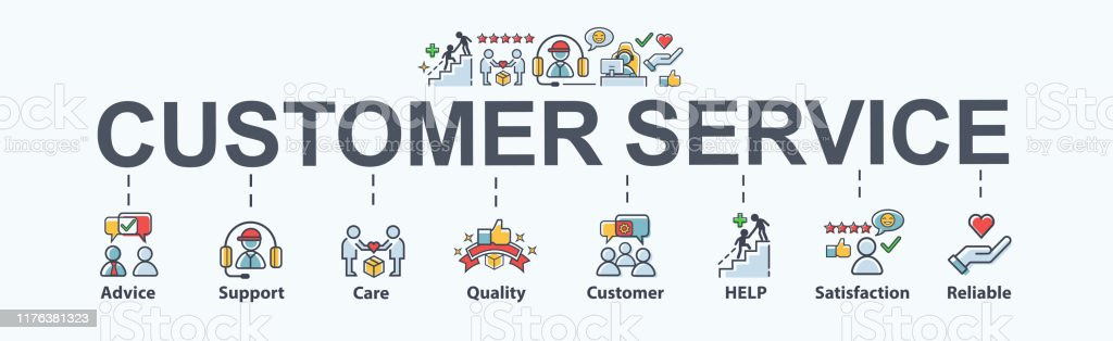 Customer service banner web icon for business, help, mind, advice, customer care, satisfaction, experience, quality and support. Flat cartoon vector infographic. Customer service banner web icon for business, help, mind, advice, customer care, satisfaction, experience, quality and support. Flat cartoon vector infographic. A Helping Hand stock vector