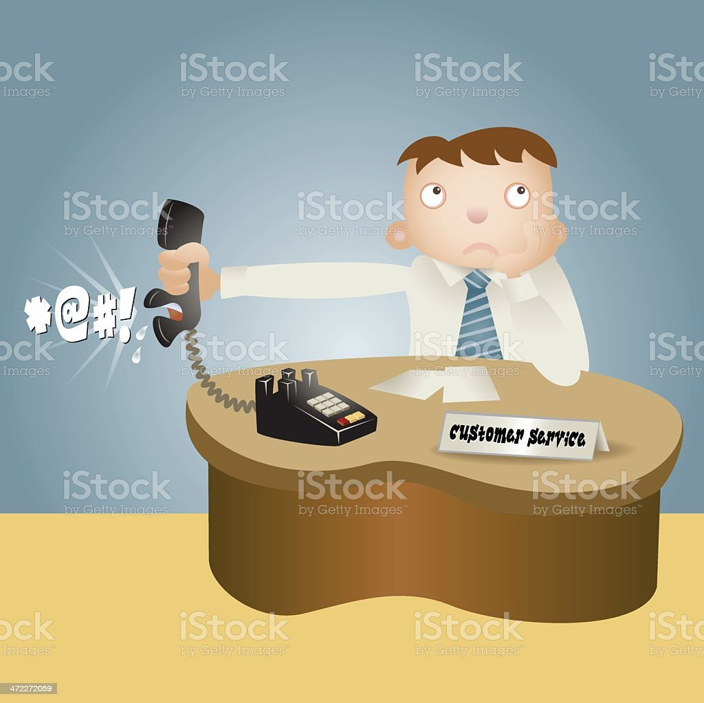 Customer Service Complaint vector art illustration
