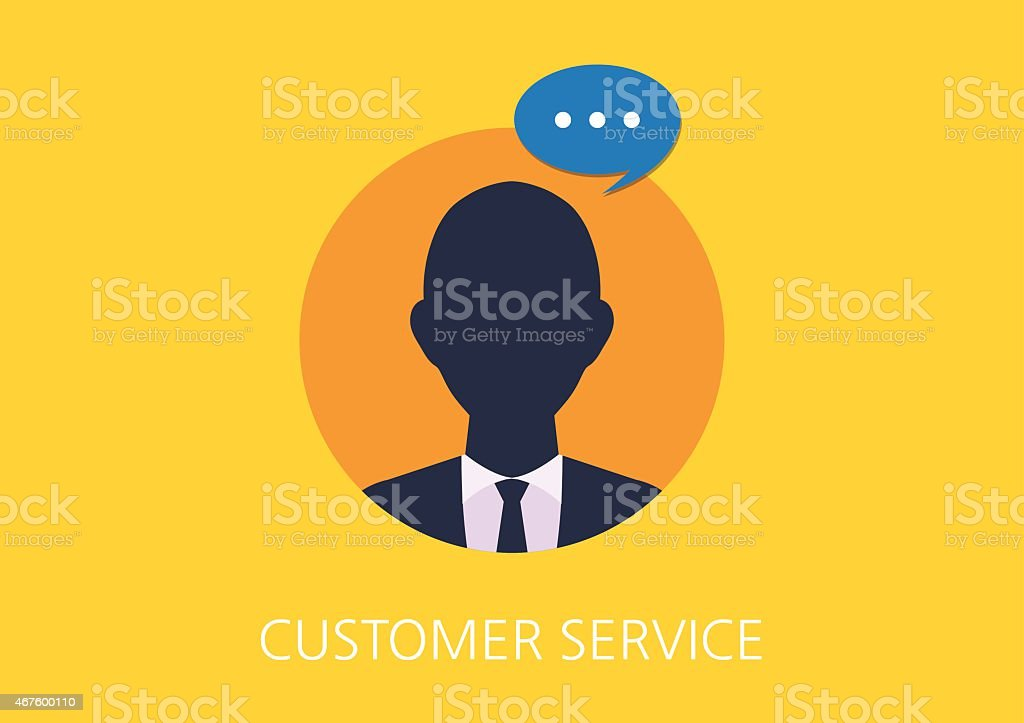 customer service concept flat icon vector art illustration