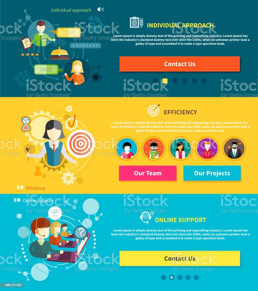 Customer service concept vector art illustration
