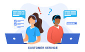 istock Customer Service concept with online personnel 1256157775