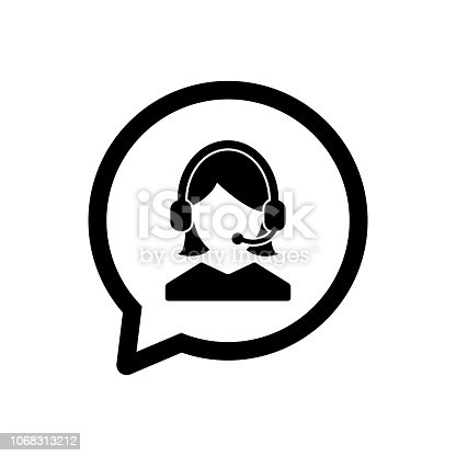 customer service icon, admin icon, support icon, outline vector