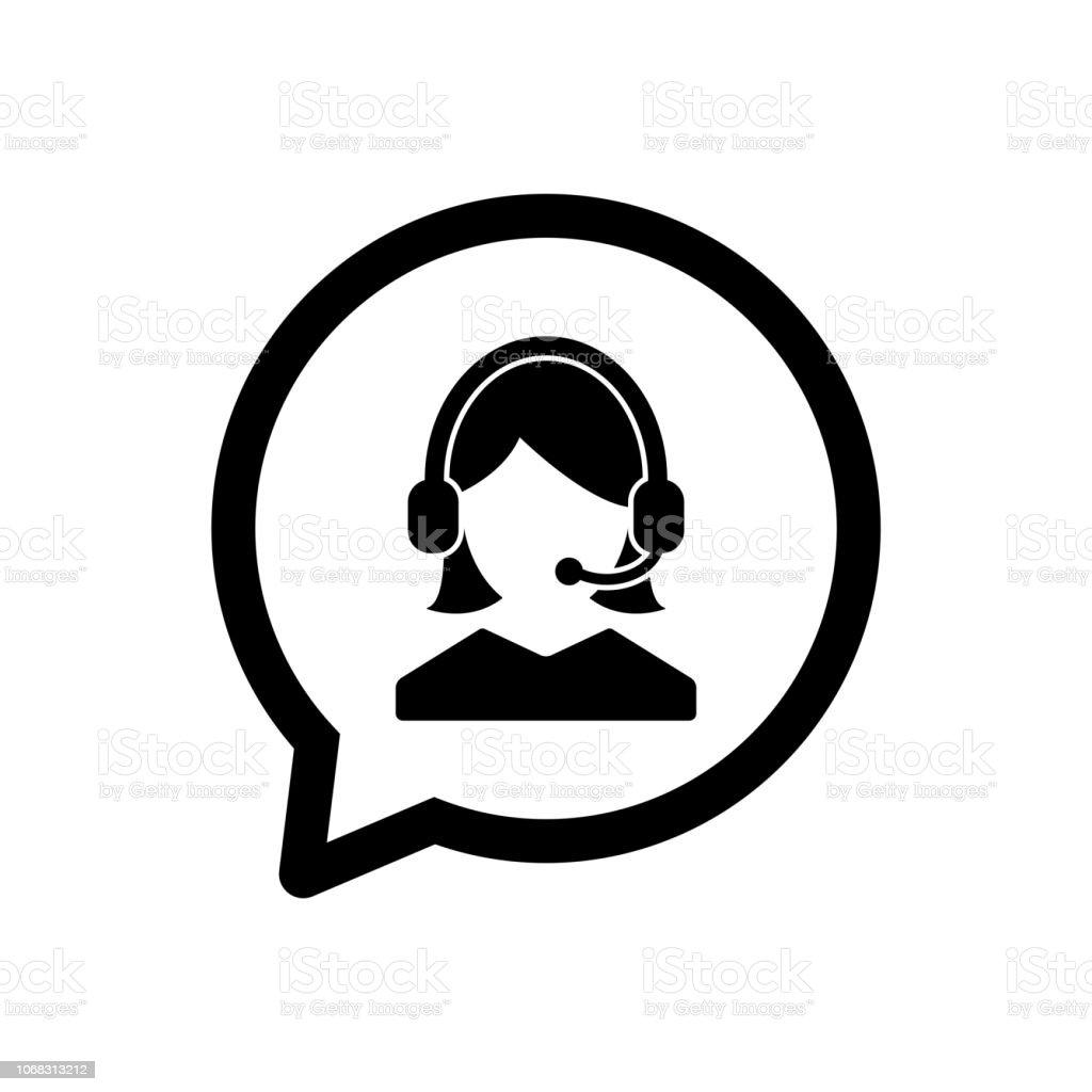 cliente servicio icono, icono de admin, apoyo icono vector - ilustración de arte vectorial