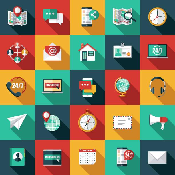 stockillustraties, clipart, cartoons en iconen met icon set voor klanten service - flat design