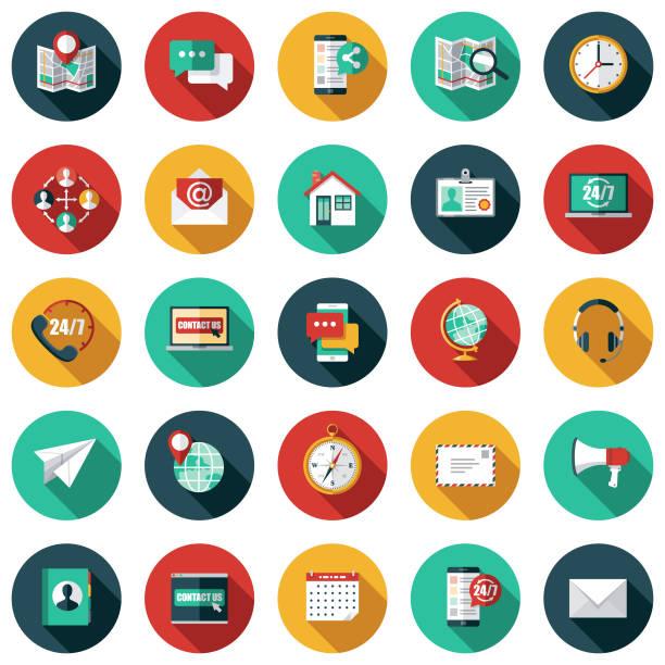 zestaw ikon obsługi klienta - kolory stock illustrations
