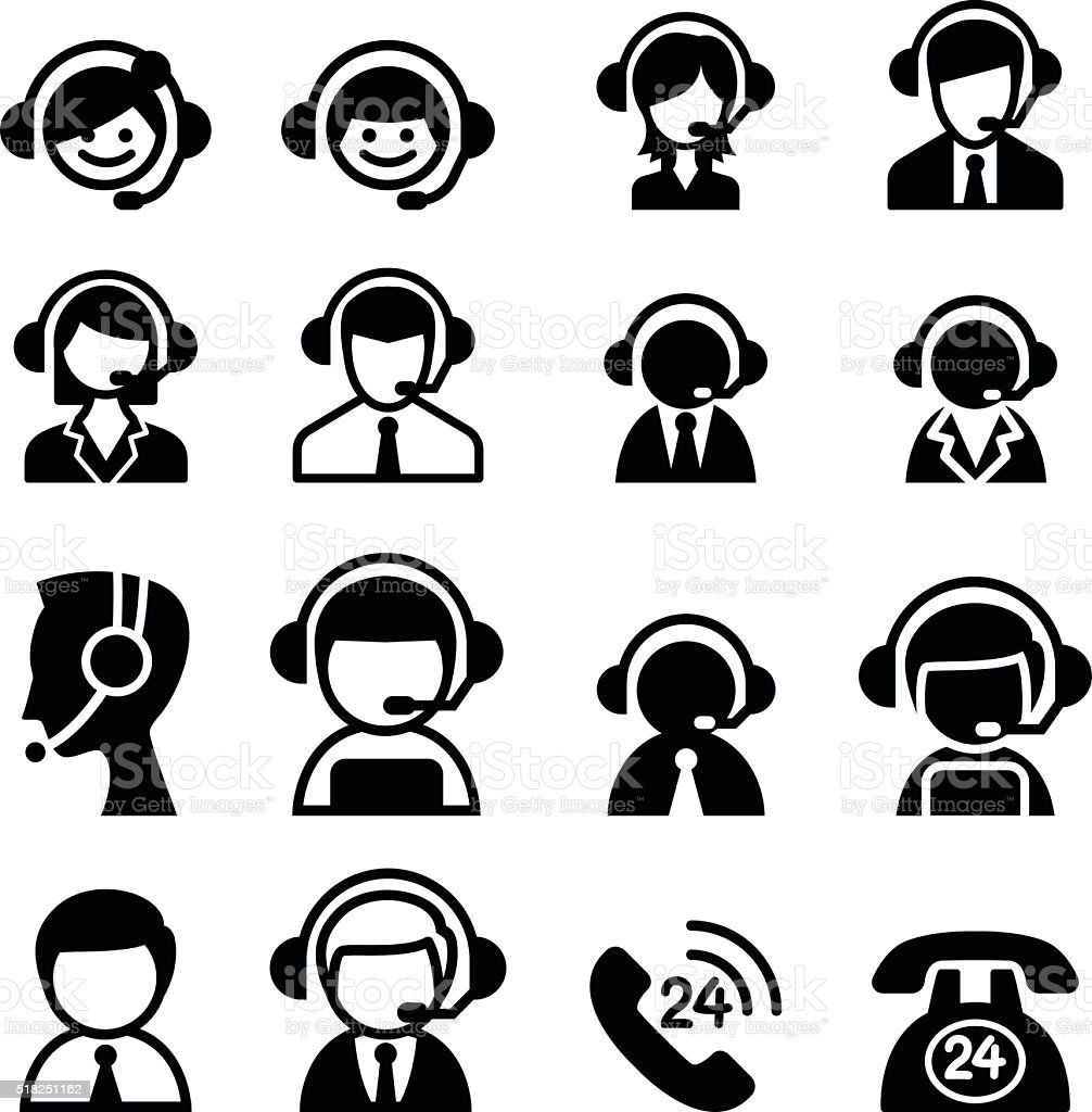 Customer service icon vector art illustration