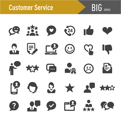 Customer Service Icons - Big Series